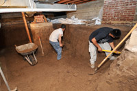 Crawlspaces 2 basements green building crawlspaces 2 for Convert crawlspace to basement cost